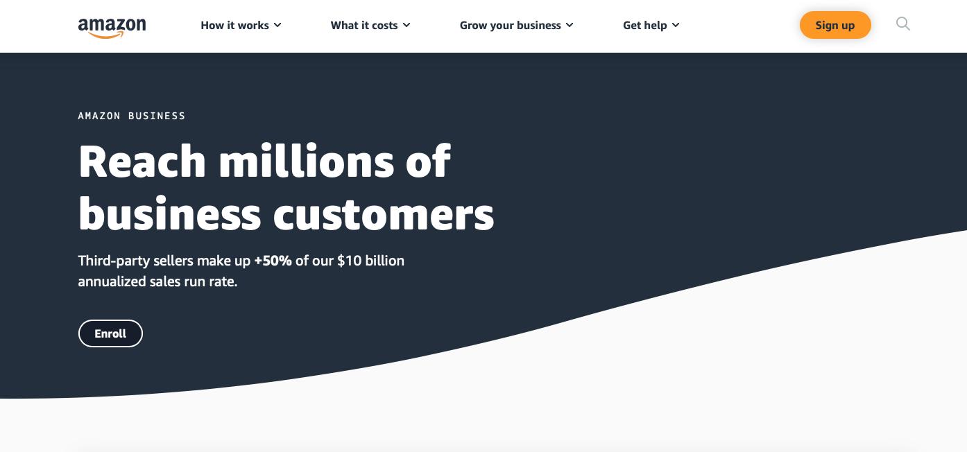 Amazon Business website
