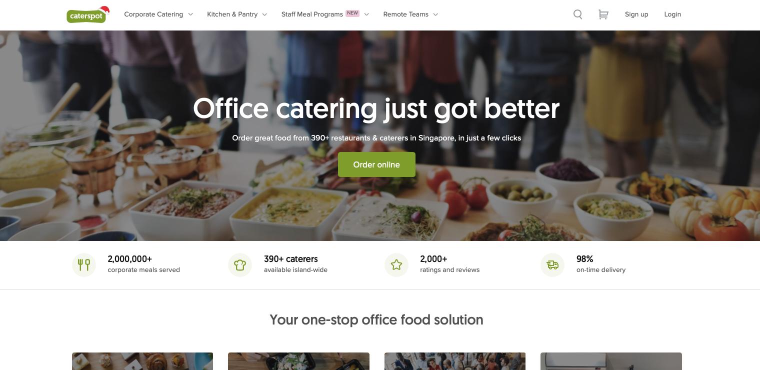 CaterSpot website
