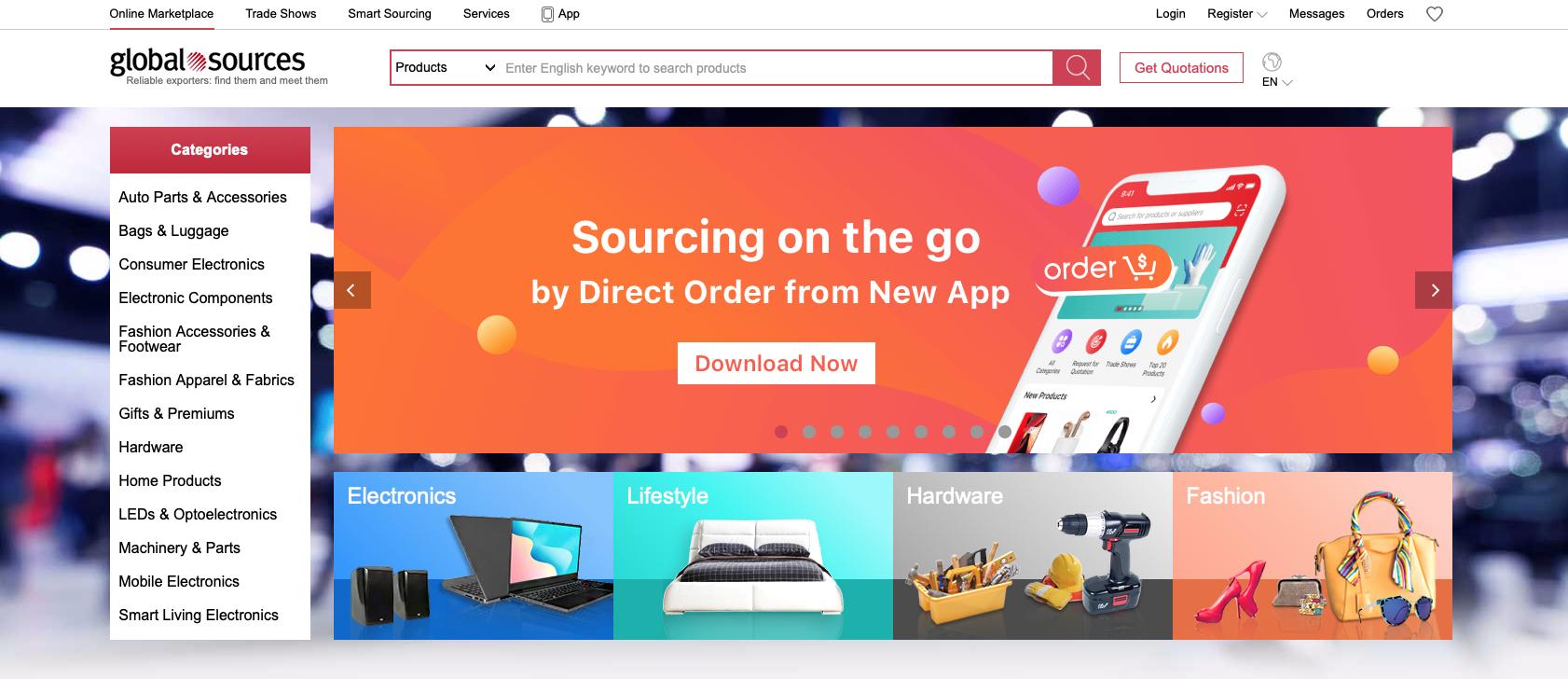 Global Sources website