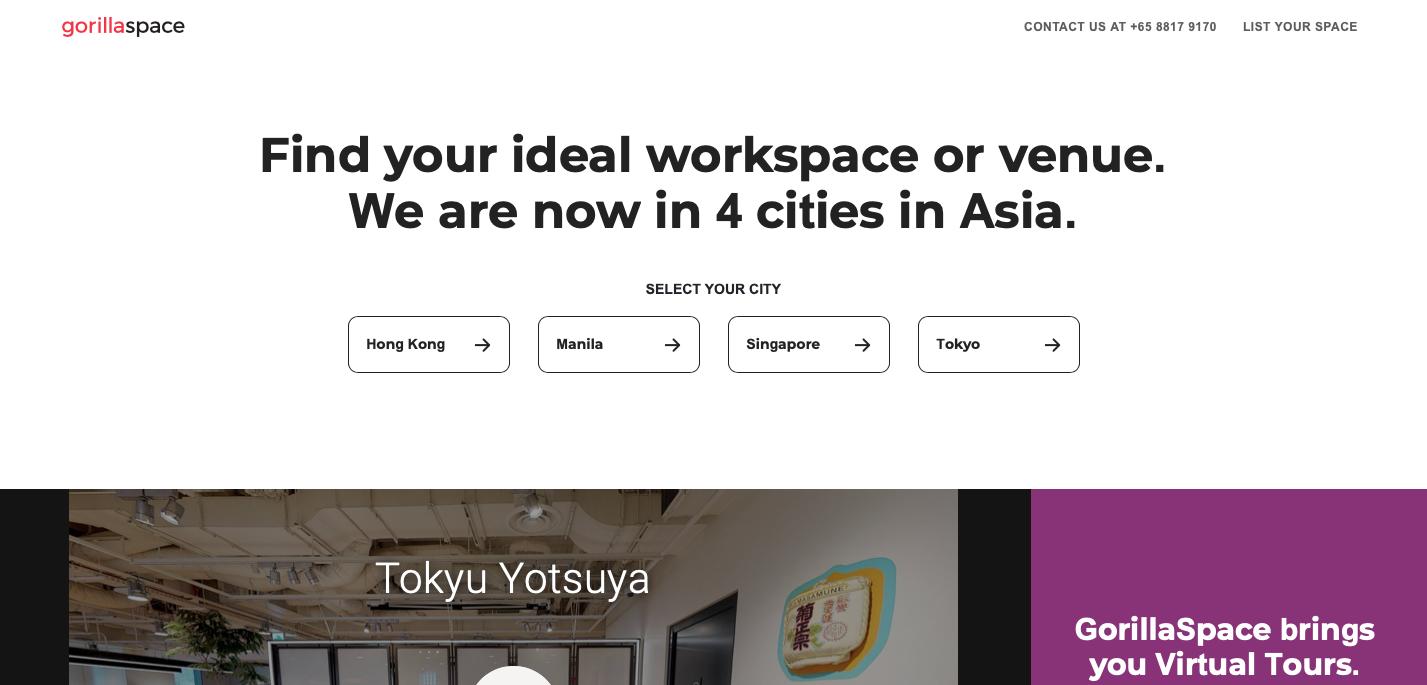GorillaSpace website