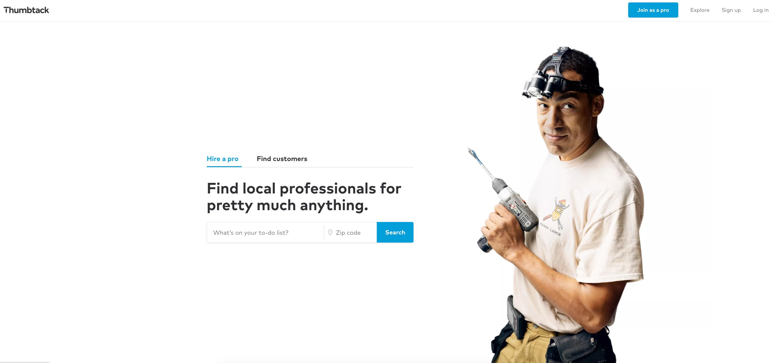 How does online marketplace Thumbtack make money