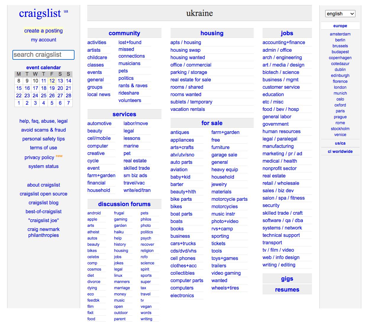 How does online marketplace Craiglist make money