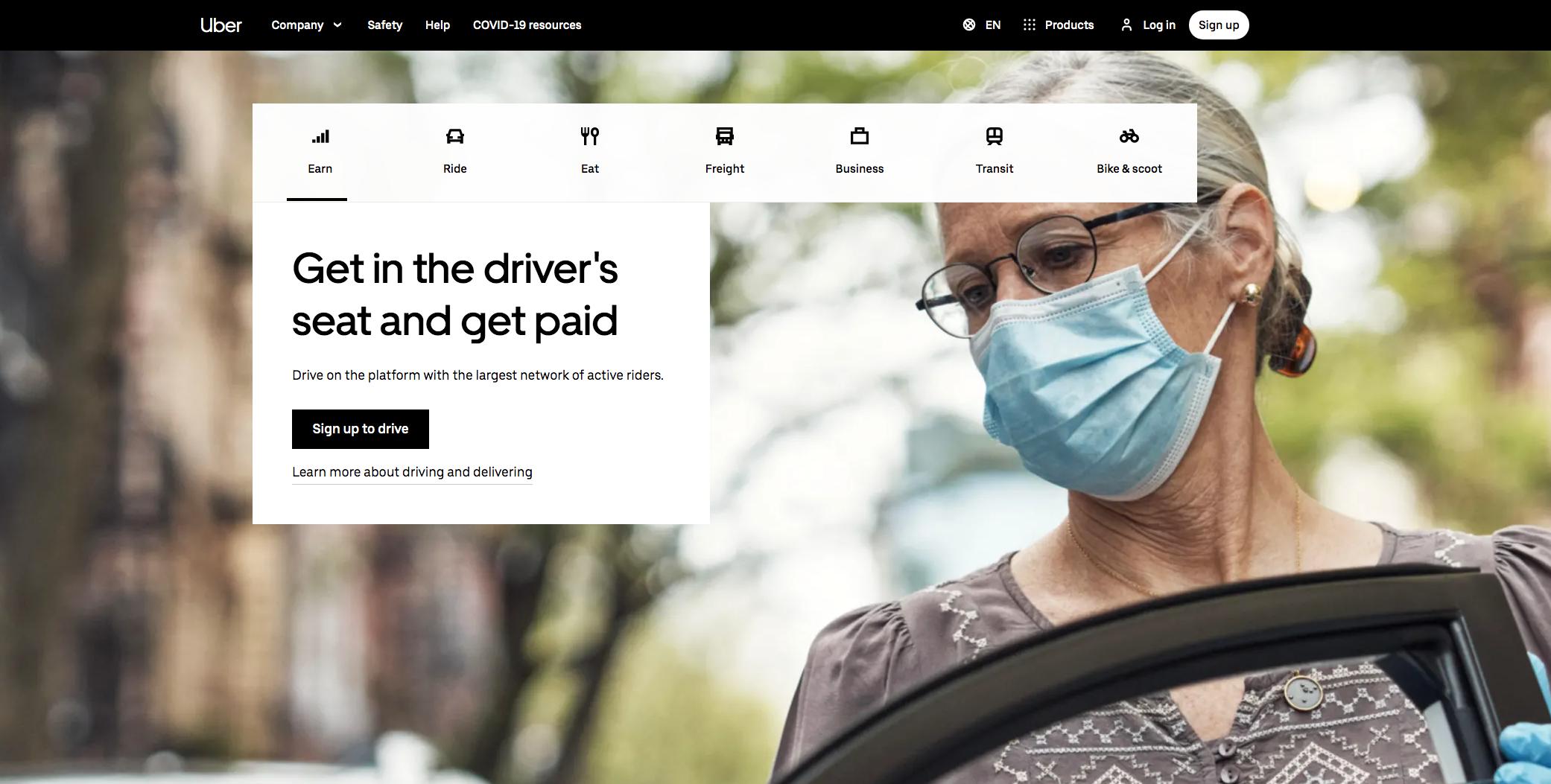 How does online marketplace Uber make money