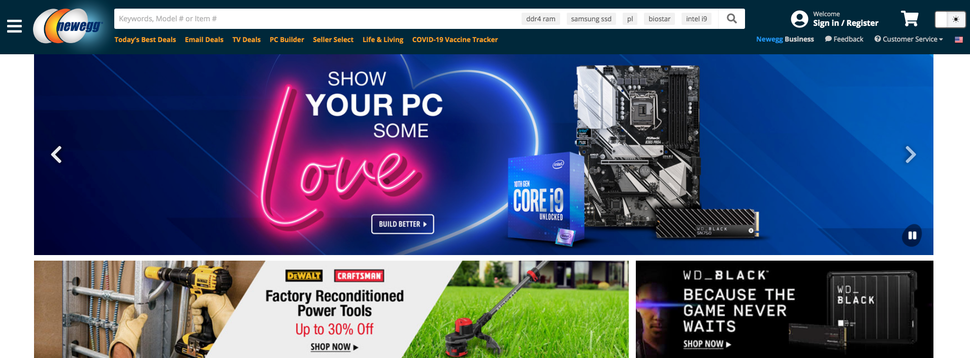 How does online marketplace Newegg make money